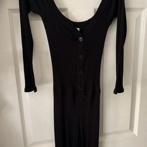 Fashion Nova Dresses - black off shoulder jumpsuit.